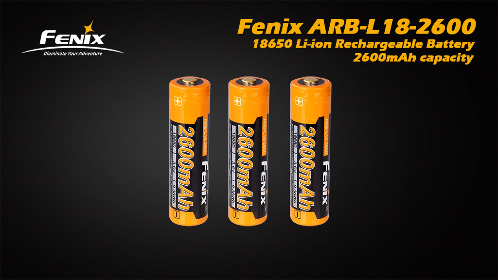 ARB-L18-2600 18650 Li-ion Rechargeable Battery