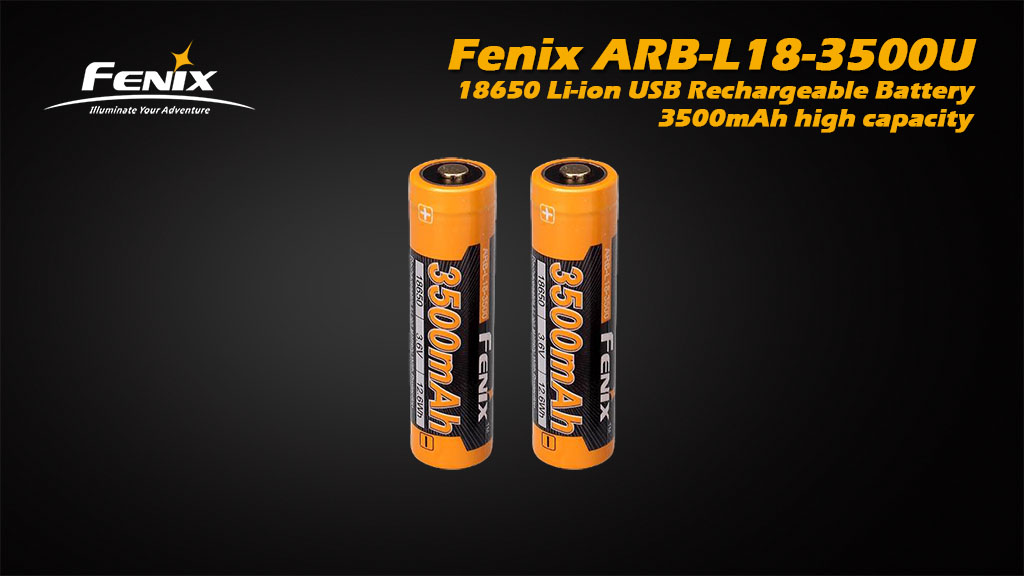 ARB-L18-3500U 18650 Li-ion Build-In USB Charging Port Rechargeable Battery