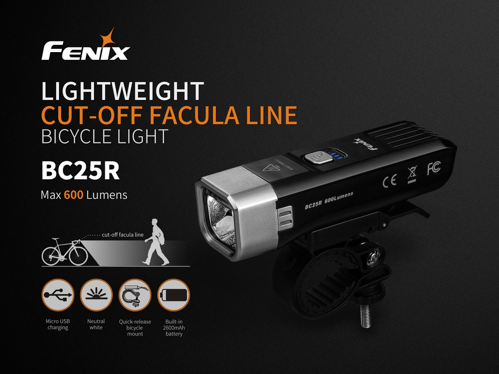 BC25R Rechargeable Bike Light