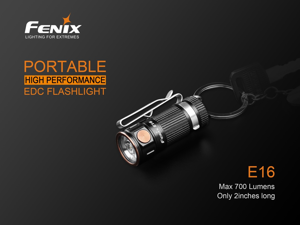 E16 Portable EDC Flashlight