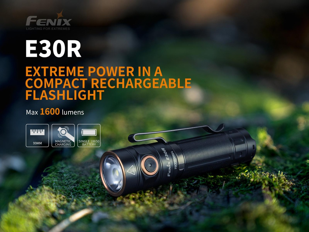 E30R Extreme Output Compact Rechargeable Flashlight