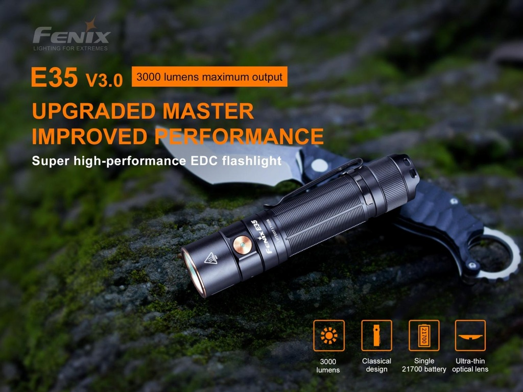 E35 V3.0 Super Bright EDC Flashlight
