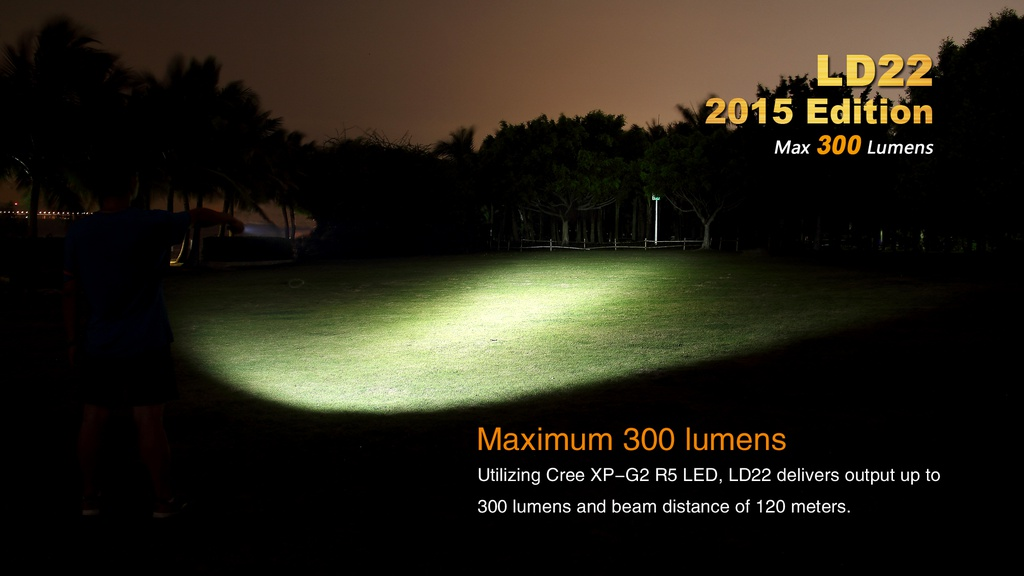LD22 Outdoor Flashlight , Max 300 Lumens , Max Distance ...