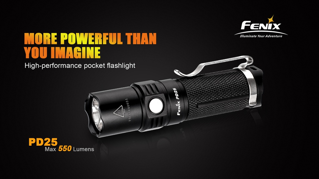 PD25 High Output Pocket EDC Flashlight