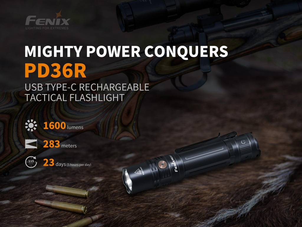 PD36R Rechargeable Tactical Flashlight