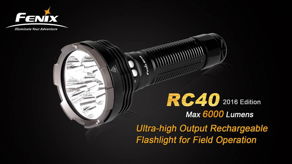 RC40 Long Range Rechargeable Flashlight