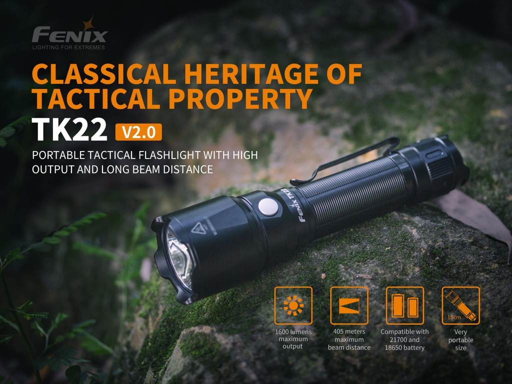 TK22V2.0 Portable High-Output Tactical Flashlight