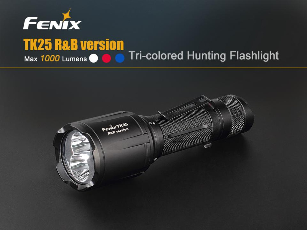 TK25RB Red/Blue/White Multi-Color Hunting Flashlight