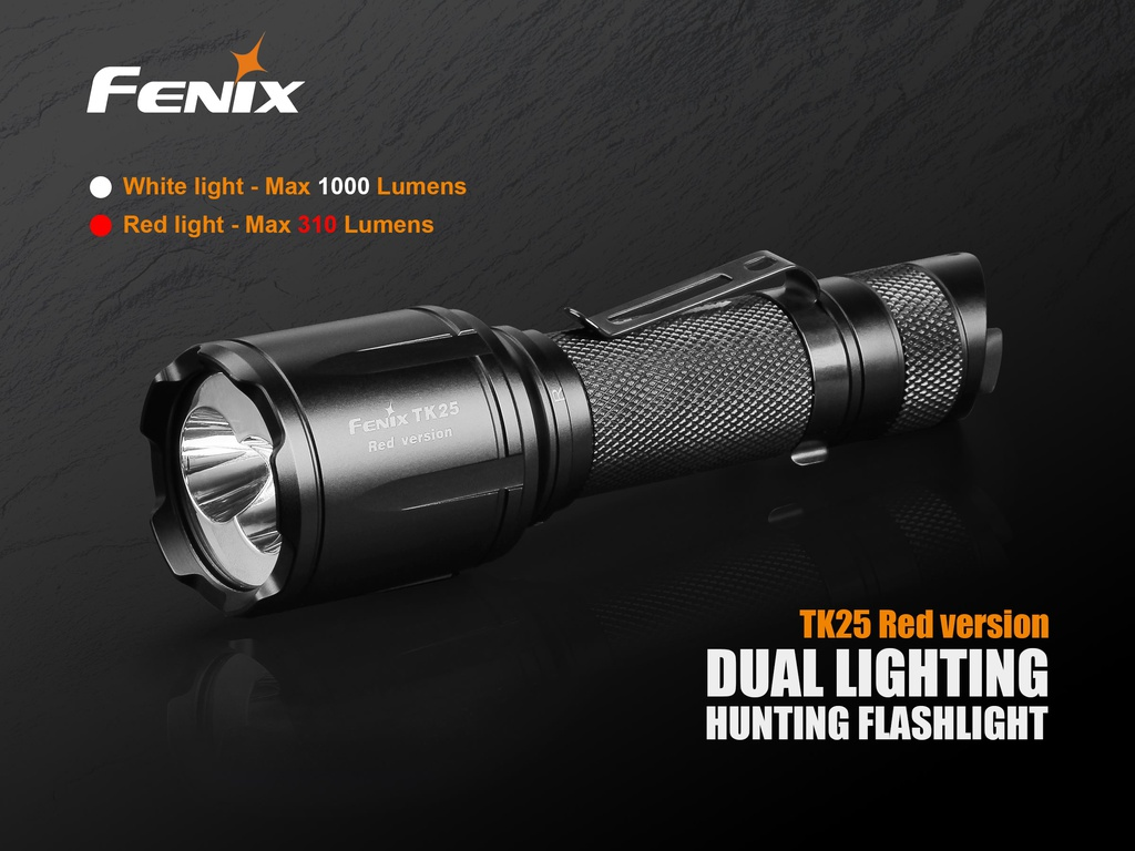 TK25RED Red/White Hunting Flashlight